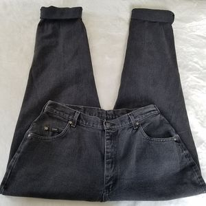 Vintage Black Lee High Waisted Mom Jeans